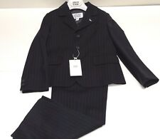 Armani NEW Boys Kids 2 PIECE PINSTRIPE WOOL CLASSIC SUIT Sz: 6 RTL: $569 P519