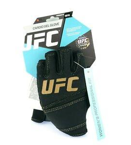 Women Cardio Gel Glove UFC Professional Fit Black Unique Hand Shape USA Seller