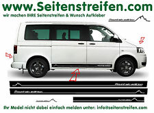 Volkswagen VW Bus T4 T5 Mountain Edition Seitenstreifen Aufkleber Dekor Set