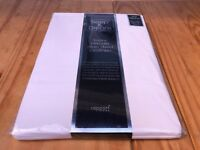 Sleep & Dream White Luxury Percale Plain Dyed Bedlinen - King Fitted Sheet