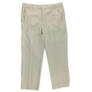 Puma Men's Sport Lifestyle Beige Flat Front Straight Fit Golf Pants Size 38 x 32