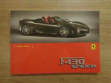 Ferrari F430 Spider Owners Handbook Manual