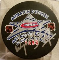 WAYNE GRETZKY HOF SIGNED AUTOGRAPHED 44ST NHL 1993 ALL STAR GAME HOCKEY PUCK COA