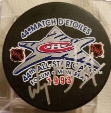 WAYNE GRETZKY HOF SIGNED AUTOGRAPHED 44ST NHL 1993 ALL STAR GAME HOCKEY PUCK COA