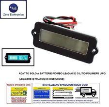 DISPLAY LCD MISURATORE LIVELLO BATTERIA TENSIONE 12V 24V 48V PIOMBO LITIO 18650.
