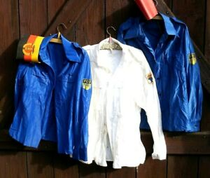 3 Stück Jungpionier FDJ Hemd Bluse Freie deutsche Jugend Fasching DDR Hemden