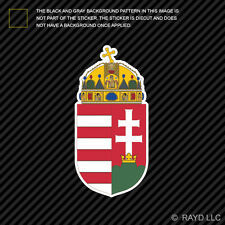 Hungarian Coat of Arms Sticker Decal Self Adhesive Vinyl Hungary flag HUN HU