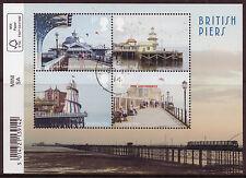 GREAT BRITAIN 2014 BRITISH PIERS BARCODE MINIATURE SHEET FINE USED