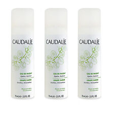 3 X CAUDALIE Grape Water Soothes and Moisturizes 75ml Organic Toners NEW #6178_3