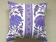 "GENUINE Vintage Retro 60s Purple Sinbad fabric16"" Cushion Cover"