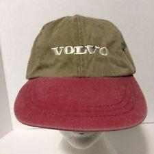 VOLVO Cars Tan Faded Maroon Head Shots Baseball Cap Hat