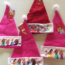 Disney Mickey Snow White Santa Christmas fleece Hats- Lot Of 4-NWT-FREE SHIPPING