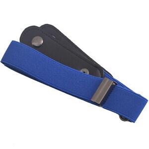 Men Women  Buckle-Free Waist Belt Elastic Buckleless Stretch Jeans Waistband Hot