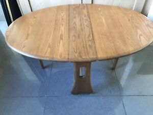 ERCOL COFFEE TABLE LIGHT ELM AND BEECH DROP LEAF.NO 456
