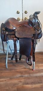 Tex tan hereford saddle