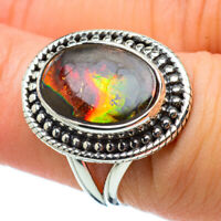 Ammolite 925 Sterling Silver Ring Size 6.25 Ana Co Jewelry R32825F