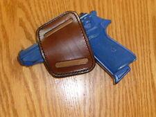 BROWN-IWB/OWB/BELT/Clip Holster USA MFG Leather Glock 42 PP/PPK Bersa 1911 LC9