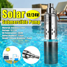 DC 12V/24V 180W Lift 25M 3M³/H Power Submersible Water Pump Deep Well Pump
