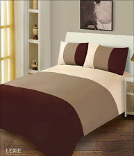 3 Tone Duvet Cover With Pillowcases Bedding Quilt Cover Set - 6 Colours