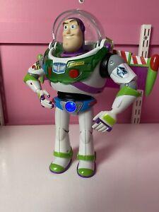 "Buzz Lightyear Toy Story 12"" Figure Blue Anti Gravity Utility Belt Mattel - RARE"