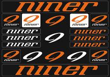 Niner Mountain  Bicycle Frame Decals Stickers Graphic Adhesive Set Vinyl Orange