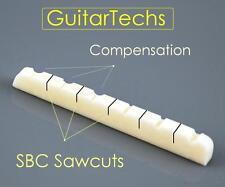 GuitarTechs COMPENSATED / SB Concept Bone Nut for FENDER Guitar Strat Tele...