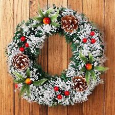 Wall Hanging Christmas Wreath Decoration For Xmas Party Door Garland Ornament