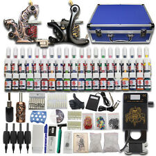 Complet Tattoo Kit de Tatouage 2 Machine Gun à Tatouer 40 Encre Body Art Set C08