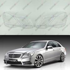 New OEM Headlight Glass Headlamp Lens Plastic Cover (PAIR) Mercedes E W212