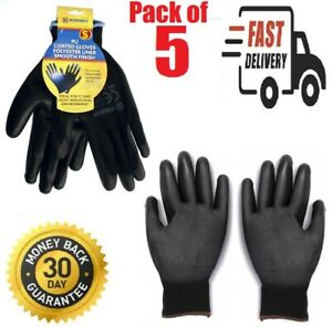 ULTIMATE COMFORT WORKING GLOVES BUILDERS GARDENING SAFETY NITRILE GLOVES SMALL