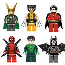 6 × SuperHero Minifigures Figures Set - Building Block compatible Toy