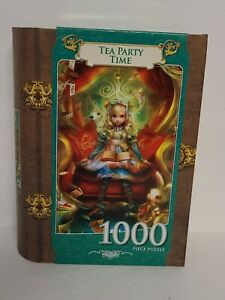 NEW Masterpieces TEA PARTY TIME Alice in Wonderland Fairy Tale Puzzle 1000 PC