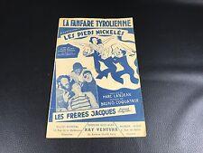 LES PIEDS NICKELES PARTITION DE MUSIQUE  RARE 1950