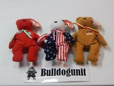 International Bears II Lot Osito Germania Spangle McDonalds Beanie Baby 2000 Toy