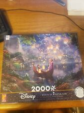 Thomas Kinkade Disney Tangled Rapunzel Jigsaw Puzzle 2000 piece Ceaco USA NEW!