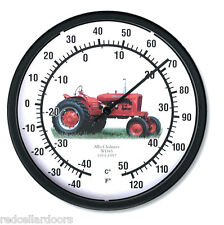 "New ALLIS CHALMERS Model WD45 Tractor Thermometer 10"" Round Years 1953-1957"
