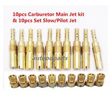 10pcs Carburetor Main Jet kit & 10pcs Set Slow/Pilot Jet for PWK  OKO CVK