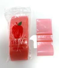 Apple Baggies 175175 Red 100 Pack 175x175 Inch Small Plastic Zipper Bags