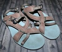 KEEN WOMEN'S BROWN LEATHER OPEN TOE STRAPPY SANDALS 1003781 SIZE 7