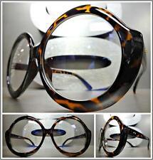 174713676738 OVERSIZED VINTAGE RETRO Style Clear Lens EYE GLASSES Large Round Tortoise  Frame