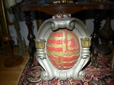 More details for huge antique impressive armorial knights heraldic family crest shield english