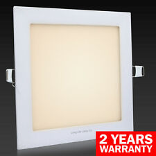 12W LED SQUARE Recessed Ceiling Flat Panel Down Light Ultra slim WARM WHITE