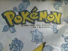 Vintage 1998 Pokemon Twin Sheet Fitted Bedding Pikachu Meowth Charmeleon