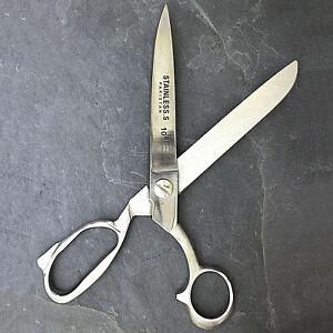 "10"" HEAVY DUTY STAINLESS STEEL TAILOR UPHOLSTERY SCISSORS Shears Utlity Sewing"