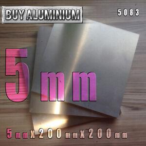 5mm Aluminium Plates / sheets 200mm x 200mm - 5083