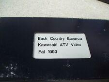 Kawasaki Back Country Bonanza ATV Video Fall 1993 VHS Tape