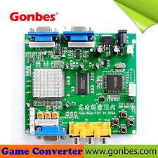 Gonbes gbs-8220 Cga (15 kHz) / Ega (25kHz) Arcade Jamma Pcb A 2 X Vga Convertidor