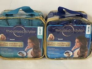 The Sleep Styler Large & Mini Hair Rollers As seen on Shark Tank 20 PCS TOTAL!