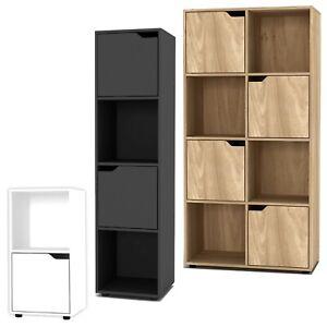 2, 4, 8 Cube Bookcase Shelving Display Shelf Storage Living Room Wooden Door NEW
