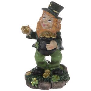 Leprechaun Figurines Choose 1 From 3: Horseshoe, Pot Of Gold OR with Shamrocks